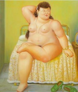 botero_xx_woman_on_a_bed_1995_